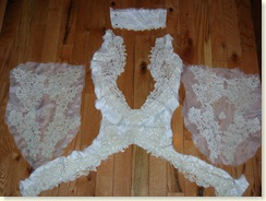 pieces from wedding dress